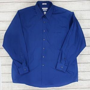 Van Heusen Blue Button Down Dress Shirt
